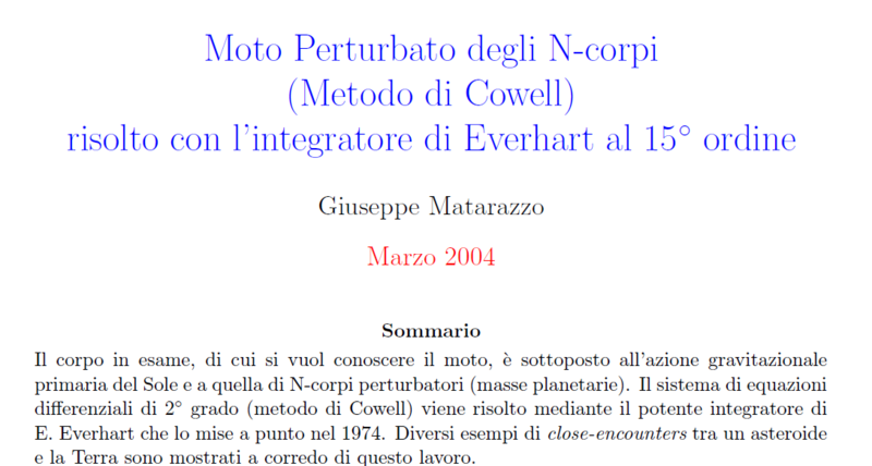 Sito di Astronomia Teorica by Giuseppe Matarazzo